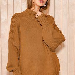 Toasty Mornings Dark Mustard Knit Oversized Sweater | Lulus (US)