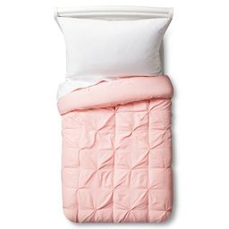 Toddler Pinch Pleat Comforter Light Pink - Pillowfort™   Target