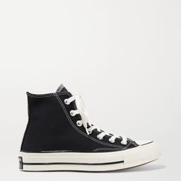 Black Chuck Taylor All Star 70 canvas high-top sneakers | Converse | NET-A-PORTER | Net-a-Porter (Global excpt. US)