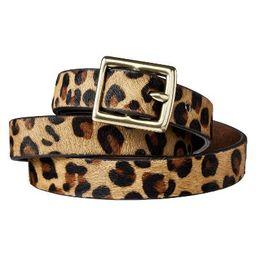 Women's Leopard Print Calf Hair Belt - Brown & Tan - A New Day™ | Target