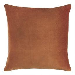 Copper Velvet Throw Pillow   World Market