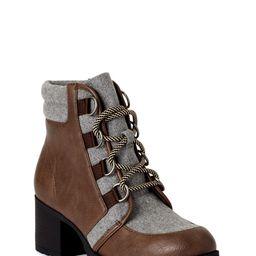 Scoop Women's Sadie Heeled Hiker Boots | Walmart (US)