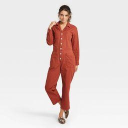 Women's Long Sleeve Collared Boilersuit - Universal Thread™ | Target