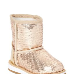 Wonder Nation Toddler Girls Shiny Sequin Faux Shearling Boots | Walmart (US)