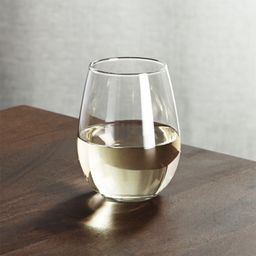 Stemless White Wine Glass 11.75 oz + Reviews | Crate and Barrel | Crate & Barrel