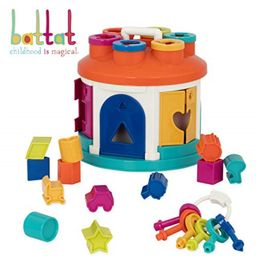 battat - shape sorter house - color and shape sorting toy with 6 keys and 12 shapes for toddlers ...   Walmart (US)