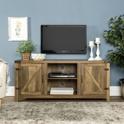 """Manor Park Farmhouse TV Stand for TVs up to 65"""", Reclaimed Barnwood 