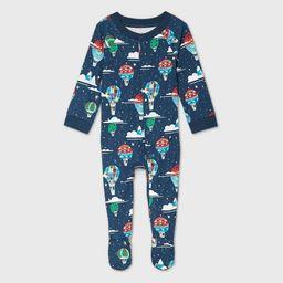 Baby Holiday Hot Air Balloon Print Flannel Matching Family Footed Pajama - Wondershop™ Navy | Target