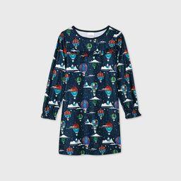 Kids' Holiday Hot Air Balloon Print Flannel Matching Family Pajamas Nightgown - Wondershop™ Nav... | Target