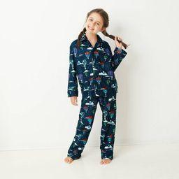 Kids' Holiday Hot Air Balloon Print Flannel Matching Family Pajama Set - Wondershop™ Navy | Target