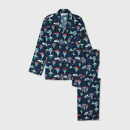 Men's Holiday Hot Air Balloon Print Flannel Matching Family Pajama Set - Wondershop™ - Navy | Target