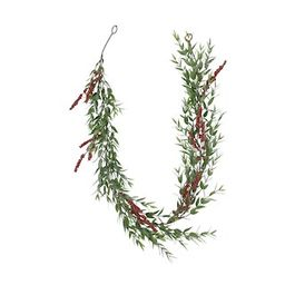 6ft. Glittery Eucalyptus & Red Berry Christmas Garland by Ashland® | Michaels Stores