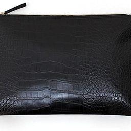 NIGEDU Women Clutches Crocodile Grain PU Leather Envelope Clutch Bag | Amazon (US)