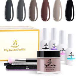 Beetles Dipping Powder Starter Kits 6 Colors Dip Nails Gray Dark Dip Powder Nail Dip Set Dipping ... | Amazon (US)
