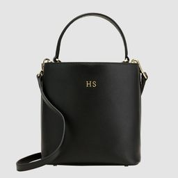Black Pebbled Double Bucket Bag   The Daily Edited