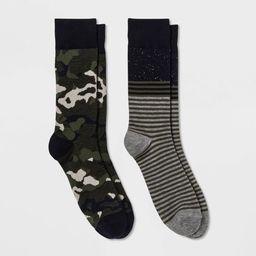 Men's 2pk Crew Dress Socks - Goodfellow & Co™ Black 10-13 | Target