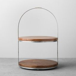 2-Tier Wood & Metal Cake Stand - Hearth & Hand™ with Magnolia | Target