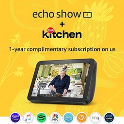 Echo Show 8 (Charcoal) Kitchen Bundle with Food Network Kitchen Complimentary Subscription   Amazon (US)