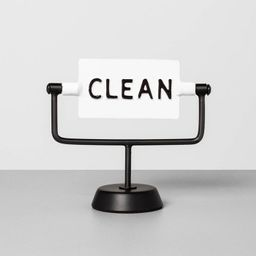 'Clean / Dirty' Reversible Sign White/Black - Hearth & Hand™ with Magnolia | Target