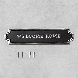 'Welcome Home' Wall Sign Black/White - Hearth & Hand™ with Magnolia | Target
