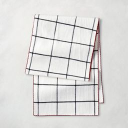 Holiday Windowpane Plaid Table Runner Railroad Gray/Red - Hearth & Hand™ with Magnolia | Target
