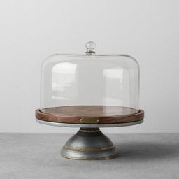 Wood & Metal Covered Cake Stand - Hearth & Hand™ with Magnolia | Target