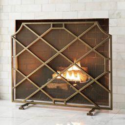 Beckett Fireplace Screen | Frontgate | Frontgate