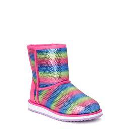 Wonder Nation Striped Sequin Faux Shearling Boot (Toddler Girls) | Walmart (US)