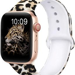 OriBear Compatible with Apple Watch Band 40mm 38mm Elegant Floral Bands for Women Soft Silicone S...   Amazon (US)