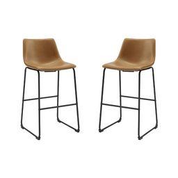Set of 2 Urban Faux Leather Barstools - Saracina Home   Target