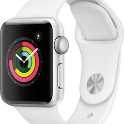 Apple Watch Series 3 (GPS) 38mm Silver Aluminum Case with White Sport Band Silver Aluminum MTEY2L...   Best Buy U.S.