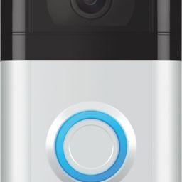 Ring Video Doorbell 3 Satin Nickel 8VRSLZ-0EN0 - Best Buy   Best Buy U.S.