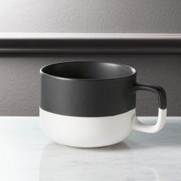 Dip Black and White Coffee Mug + Reviews | CB2 | CB2