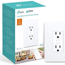 Kasa Smart KP200 Plug by TP-Link, In-Wall Smart Home Wi-Fi Outlet Works with Alexa, Echo, Google ... | Amazon (US)