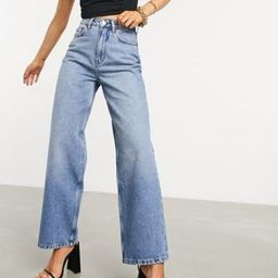 ASOS DESIGN recycled high rise 'relaxed' dad jeans brightwash | ASOS (Global)