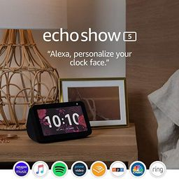 Echo Show 5 -- Smart display with Alexa – stay connected with video calling - Charcoal | Amazon (US)