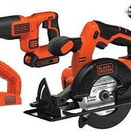 BLACK+DECKER 20V MAX Cordless Drill Combo Kit, 4-Tool (BD4KITCDCRL) | Amazon (US)