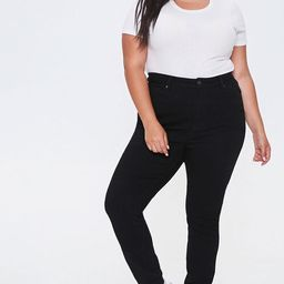 Plus Size High-Rise Skinny Jeans | Forever 21 (US)