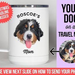 Travel Mug, Personalized with your dog's photo and name, Custom Travel Mug, Double-Walled Insulat... | Etsy (US)