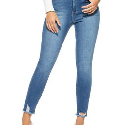 Sofia Jeans by Sofia Vergara Women's Rosa Curvy Ripped High-Rise Ankle Jeans | Walmart (US)
