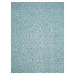 Ivory/Turquoise Stripe Flatweave Woven Area Rug - (8'X10') - Safavieh   Target