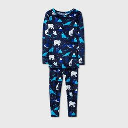 Toddler Boys' 2pc Snuggly Soft Pajama Set - Cat & Jack™ Blue | Target