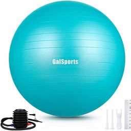GalSports Exercise Ball (45cm-75cm), Yoga Ball Chair with Quick Pump, Stability Fitness Ball for ... | Amazon (US)