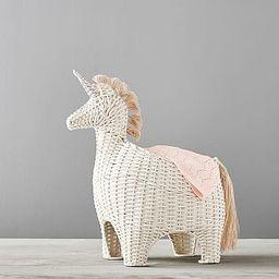Unicorn Shaped Wicker Storage | Pottery Barn Kids