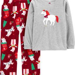2-Piece Unicorn Christmas Fleece PJs | Carter's