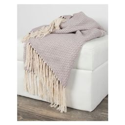 """50""""x60"""" Crosshatch Throw Blanket - Rizzy Home 