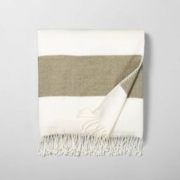 Border Stripe Throw Blanket - Hearth & Hand™ with Magnolia | Target