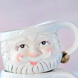 Glitterville Papa Noel Cream Christmas Vintage Santa Eyes Open Mug  | Amazon (US)