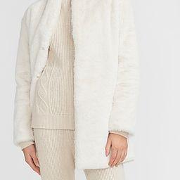 Cozy Faux Fur Coat | Express