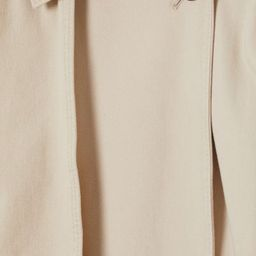 Relaxed-fit, double-breasted trenchcoat in soft cotton twill. Notched lapels, semi-attached yoke ... | H&M (US)